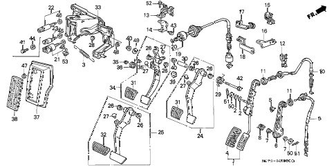 1991 INTEGRA GS 3 DOOR 4AT PEDAL diagram