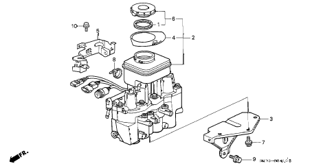 1993 INTEGRA GS 3 DOOR 4AT ABS MODULATOR diagram