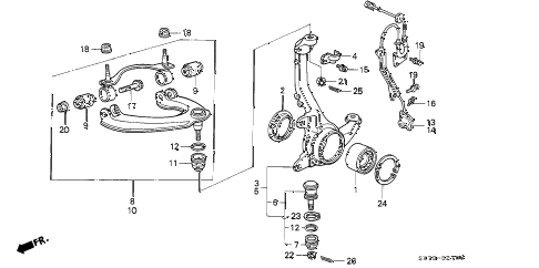1992 INTEGRA GS-R 3 DOOR 5MT KNUCKLE diagram