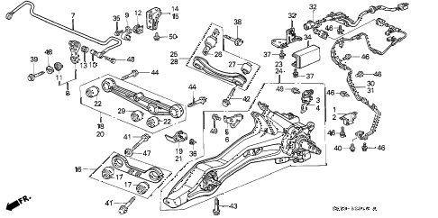 1990 INTEGRA GS 3 DOOR 5MT REAR LOWER ARM diagram