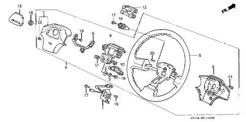 1990 INTEGRA LS 3 DOOR 4AT STEERING WHEEL (1) diagram