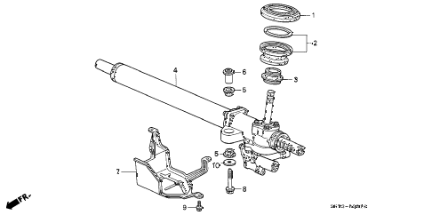 1992 INTEGRA LS 3 DOOR 5MT P.S. GEAR BOX diagram