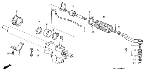 1991 INTEGRA GS 3 DOOR 5MT TIE ROD diagram