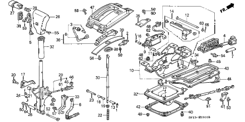 1993 INTEGRA GS 3 DOOR 4AT SELECT LEVER diagram