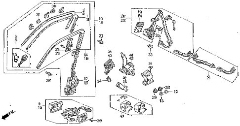 1991 INTEGRA RS 3 DOOR 5MT SEAT BELTS diagram