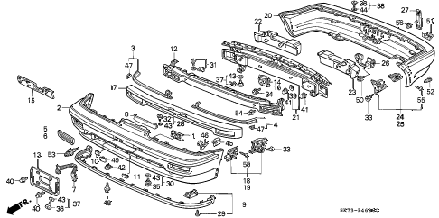 1992 INTEGRA RS 3 DOOR 5MT BUMPER diagram