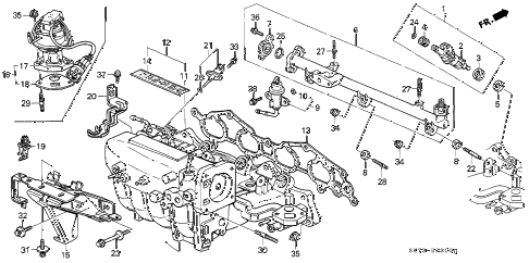 1990 INTEGRA RS 3 DOOR 4AT INTAKE MANIFOLD (1) diagram