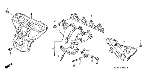 1992 INTEGRA RS 3 DOOR 4AT EXHAUST MANIFOLD (2) diagram