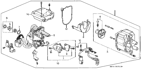 1990 INTEGRA LS 3 DOOR 4AT DISTRIBUTOR (TEC) (1) diagram