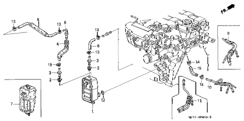 1991 INTEGRA LS 3 DOOR 5MT BREATHER CHAMBER diagram