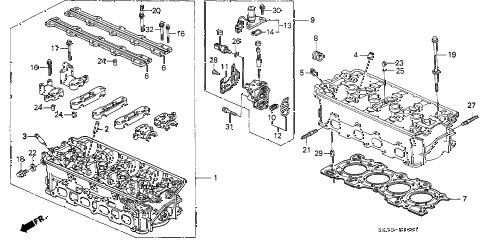 1993 INTEGRA GS-R 3 DOOR 5MT CYLINDER HEAD (2) diagram