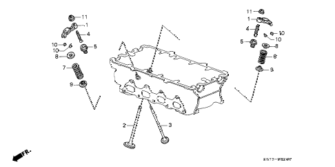 1992 INTEGRA RS 3 DOOR 4AT VALVE - ROCKER ARM (1) diagram