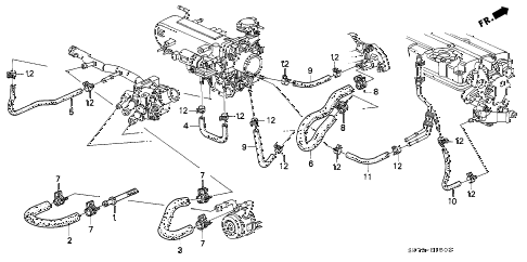 1992 INTEGRA GS-R 3 DOOR 5MT WATER HOSE (2) diagram
