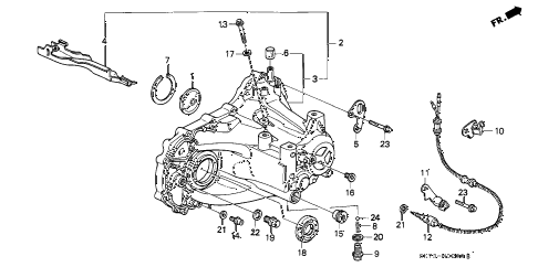 1992 INTEGRA RS 3 DOOR 5MT MT TRANSMISSION HOUSING diagram