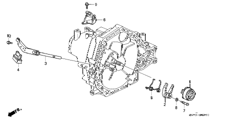 1993 INTEGRA LS 3 DOOR 5MT MT CLUTCH RELEASE diagram