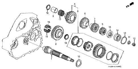 1991 INTEGRA GS 3 DOOR 5MT MT COUNTERSHAFT (1) diagram