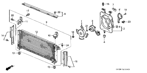 1993 INTEGRA GS 3 DOOR 5MT A/C AIR CONDITIONER (CONDENSER) diagram