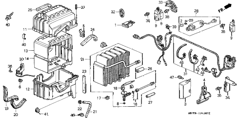 1993 INTEGRA RS 3 DOOR 5MT A/C UNIT diagram