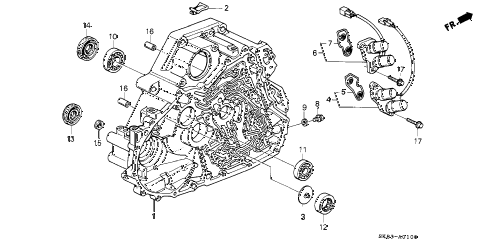 1991 INTEGRA LS 4 DOOR 4AT AT TORQUE CONVERTER HOUSING diagram