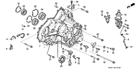 1991 INTEGRA GS 4 DOOR 4AT AT TRANSMISSION HOUSING diagram