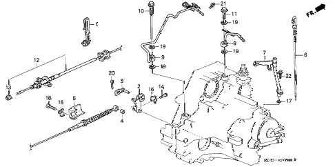 1990 INTEGRA LS 4 DOOR 4AT AT CONTROL WIRE diagram