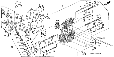 1993 INTEGRA RS 4 DOOR 4AT AT MAIN VALVE BODY diagram