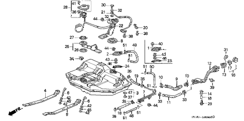 1993 INTEGRA GS 4 DOOR 5MT FUEL TANK diagram