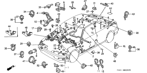 1991 INTEGRA LS 4 DOOR 5MT WIRE HARNESS diagram