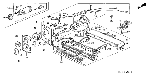 1990 INTEGRA LS 4 DOOR 4AT HEATER CONTROL (BUTTON) diagram