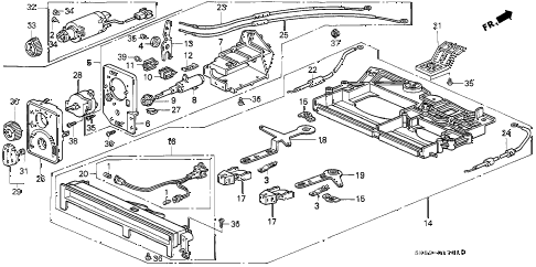 1991 INTEGRA RS 4 DOOR 4AT HEATER CONTROL (LEVER) diagram
