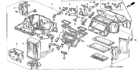 1993 INTEGRA RS 4 DOOR 5MT HEATER UNIT diagram