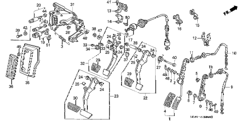 1992 INTEGRA GS 4 DOOR 5MT PEDAL diagram