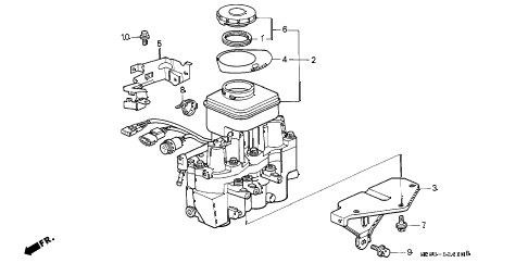 1993 INTEGRA GS 4 DOOR 4AT MODULATOR (A.L.B.) diagram