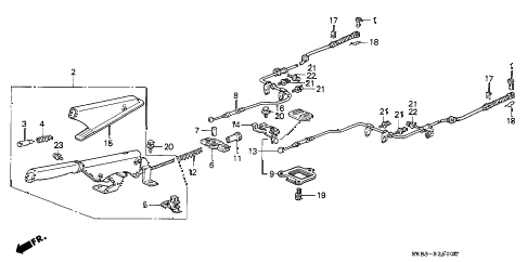 1990 INTEGRA LS 4 DOOR 4AT PARKING BRAKE diagram