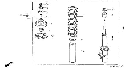 1992 INTEGRA GS 4 DOOR 5MT FRONT SHOCK ABSORBER diagram