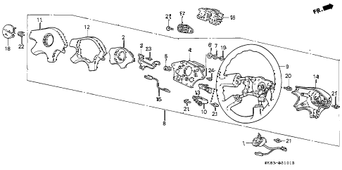 1992 INTEGRA RS 4 DOOR 4AT STEERING WHEEL (2) diagram