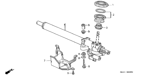 1992 INTEGRA LS 4 DOOR 4AT P.S. GEAR BOX diagram