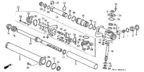 1990 INTEGRA RS 4 DOOR 5MT P.S. GEAR BOX COMPONENTS diagram