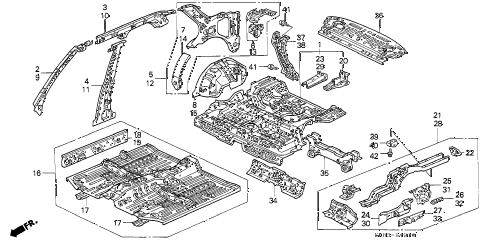 1992 INTEGRA GS 4 DOOR 4AT INNER PANEL diagram