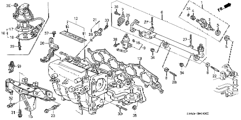 1992 INTEGRA LS 4 DOOR 5MT INTAKE MANIFOLD diagram