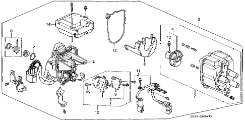 1990 INTEGRA GS 4 DOOR 5MT DISTRIBUTOR (TEC) (1) diagram