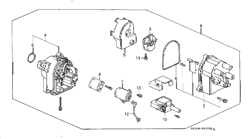 1992 INTEGRA LS 4 DOOR 5MT DISTRIBUTOR (TEC) (2) diagram