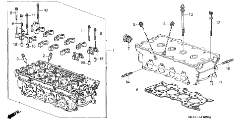 1990 INTEGRA GS 4 DOOR 4AT CYLINDER HEAD diagram
