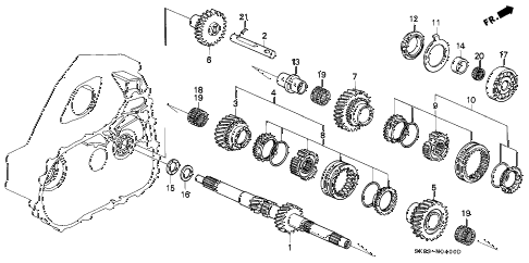 1993 INTEGRA GS 4 DOOR 5MT MT MAINSHAFT diagram