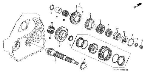 1991 INTEGRA GS 4 DOOR 5MT MT COUNTERSHAFT diagram