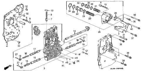 1991 NSX 2 DOOR 4AT AT MAIN VALVE BODY diagram