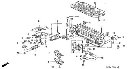 1992 NSX 2 DOOR 4AT EXHAUST PIPE (1) diagram