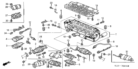 1998 NSX-T 2 DOOR 6MT EXHAUST PIPE (3) diagram