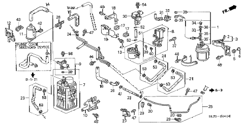 1998 NSX 2 DOOR 6MT CANISTER - FUEL STRAINER (2) diagram