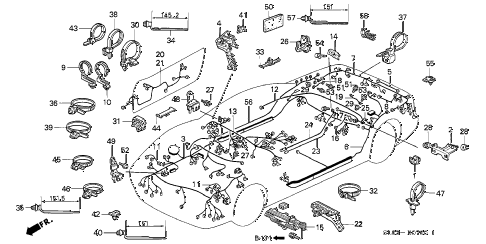 1997 NSX-T 2 DOOR 6MT WIRE HARNESS diagram